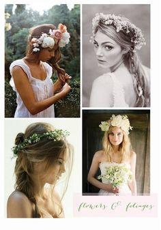 Whimsical wedding day hair