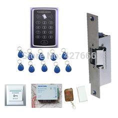 60.00$  Watch now - http://ali6kd.worldwells.pw/go.php?t=32246088010 - Free shipping+10 RFID tag NEW RFID Proximity Door Access Control System RFID/EM Keypad Access Control kit