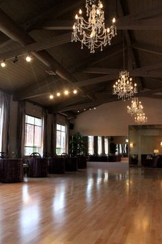 Arthur Murry Dance Studio- Designed by Joann Boccolini and Stephanie Yerka of J. I love that the paint and chandeliers lend it to events!