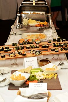Sushi, Veggies and Cheese Spread! #EpiphanyFarmsEvents #EpiphanyFarms #SpecialEvent #BanquetFood #Catering