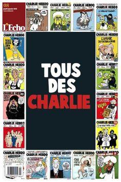 """Oft ein wenig plump, sehr oft latent sexistisch und manchmal am Rande des Rassismus - doch immer scharfzüngig und mittendrin in der gesellschaftlichen Diskussion: Das waren die Karikaturen von """"Charlie Hebdo"""". Die belgische Zeitung """"L'Echo"""" würdigt das Gesamtwerk anhand ausgewählter Zeichnungen auf der Titelseite."""