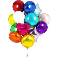 Яркий клипарт с разноцветными воздушными шариками. Красочные вставки украсят детские фото, праздничные коллажи.