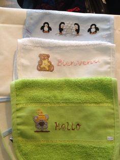 Bavoir pour bébé réalise par moi novembre 2015