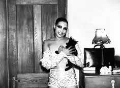 Josephine Baker and cat