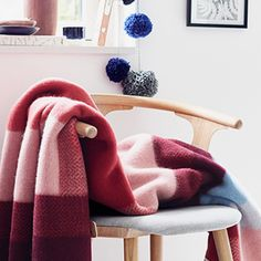Mikkel Throw - Red by Røros Tweed Textiles, House Warming, Tweed, Wool, Blanket, Pretty, Image, Home Decor, Ceilings