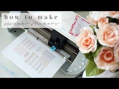 DIY How to Make Happy Planner Stickers with Silhouette! | FREE Downloads...