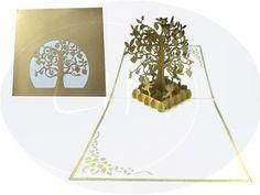 Unsere Hochzeitskarte zur goldenen Hochzeit. Mehr entdecken auf: www.lin-popupkarten.de