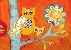 Owl painting for kids room