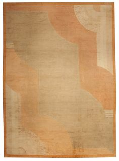 A French Deco Rug BB4915 - by Doris Leslie Blau.  A French Art Deco Rug with a graphic sculptural design in shades of orange and camel ... ( love this pattern!)