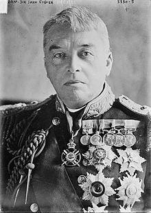 "Adm. John ""Jacky"" Fisher (1841-1920), First Sea Lord of the Admiralty, forecast in late 1913 that Germany would use submarines against merchant shipping."