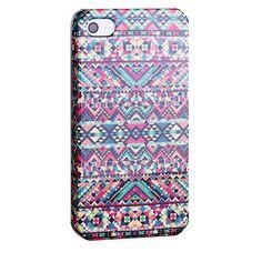 Aztec tribal hard case hoesje iPhone 4/4S