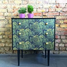 Upcycled vintage retro chest of drawers in House Of Hackney Palmeral decoupage