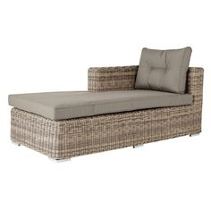 Polino Garden Chaise Longue - Light Grey and other furniture & decor products. Browse and shop related looks. Outdoor Loungers, Outdoor Seating, Outdoor Sofa, Outdoor Living, Conservatory Furniture, Rattan Outdoor Furniture, Furniture Decor, Rattan Sofa, Home Accessories
