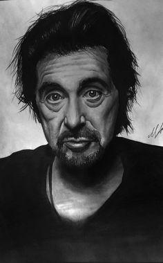 Al Pacino pencil drawing by aforarts