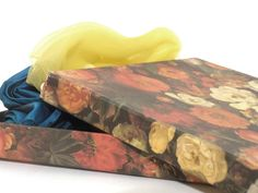 Vintage Gift Box floral box from the by FashionAndScarves Vintage Box, Vintage Gifts, Cute Box, Handmade Scarves, Oversized Scarf, Summer Scarves, Floral Scarf, Neckties, Vintage Scarf