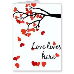Valentine falling heart card