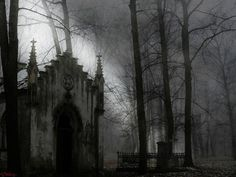 Gothic graveyard-more eery than cool.