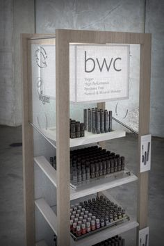 Beauty Without Cruelty (BWC) Merchandising Units by Chris Thomas, via Behance
