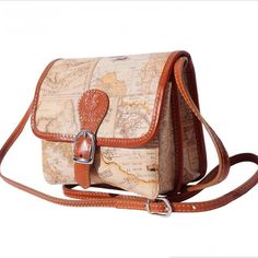 Luxury Italian End Leather Fantasia Shoulder Bag Handmade in Florence, Italy Genuine Lady Leather Shoulder Bag.  Look like the world traveler that you are!! Bags Shoulder Bags