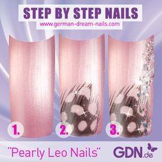 """Für alle, die eine Nailart in zarten Farbtönen bevorzugen... Die Nailart Anleitung für die """"Pearly Leo Nails"""" findet Ihr hier: http://www.german-dream-nails.com/nailart-anleitungen Viel Spaß beim Nachmachen! #nailart #anleitung #jolifin #diy"""