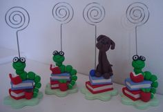 Picture Holders made from Fimo Polymer Clay.  These were used as Teacher Gifts