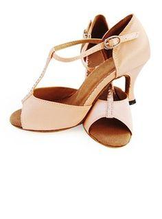 Satin Heels Latin Ballroom Dance Shoes 053012958