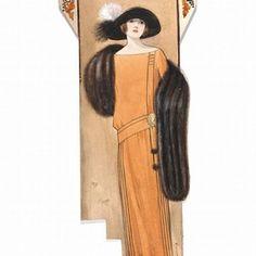 3) Hilda Steward, fashion design, London, 1923. Museum no. E.1039-1988