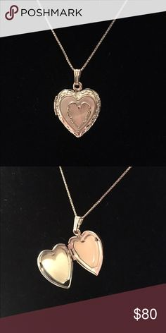 Mother of Pearl Heart Locket Necklace 🌸 Welcome and thank you for checking out my closet 🌸  Please read below if you are interested in the item:  All items are 💯% Authentic!   Always open to reasonable offers and possible trades.   🛍 Up for sale: Beautiful. New without tags. Never worn. Excellent condition. Sterling Silver. Jewelry Necklaces