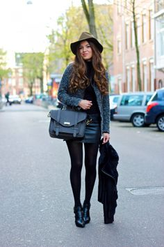 Olive Hat and Cutout Heels | Negin Mirsalehi