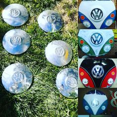 "20 Likes, 3 Comments - Jack Miller (@kuznjack) on Instagram: ""Just scored 6 vintage hubcaps. I will be painting them similar to the examples shown. First come,…"""