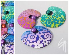 Eva Haskova Polymer Clay | Love the color combos!