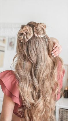 @missysueblog Cute Hairstyles For Teens, Teen Hairstyles, Hair Decorations, Dream Team, Scrunchies, Hair And Nails, Bobby Pins, Make Up, Long Hair Styles