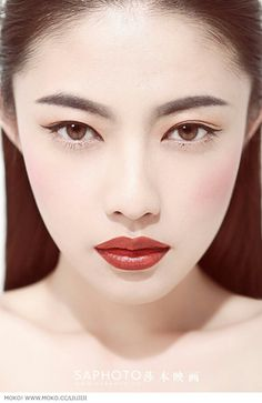 Asian #makeup#red lips