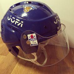 My very own modified 390 with JOFA visor 995 Goalie Mask, Reebok, Riding Helmets, Hockey, Field Hockey, Ice Hockey