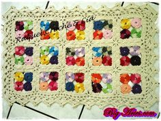 BRIGHT rug - Patchwork. Knit crochet