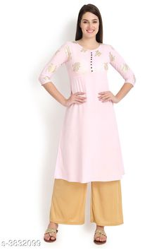 Kurtis & Kurtas Attractive Women's Kurti Fabric: Crepe Sleeve Length: Three-Quarter Sleeves Color : Pink Pattern: Printed Length : Up To 44 in Combo of: Single Sizes: XS - 34 in S - 36 in M - 38 in  L - 40 in  XL - 42 in XXL - 44 in Country of Origin: India Sizes Available: XS, S, M, L, XL, XXL   Catalog Rating: ★4.1 (439)  Catalog Name: Attractive Women's Kurti CatalogID_537957 C74-SC1001 Code: 114-3832099-2301