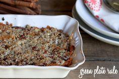 Sweet Potato Casserole {gluten free and vegan}