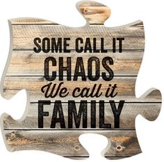 """Some call it chaos, we call it family - Measures 12"""" x 12"""" square - all puzzle frames easily link together for a unique presentation"""