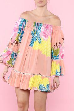d54d0222afc92 Shoptiques Product  Floral Off-Shoulder Dress - main Spring Couture