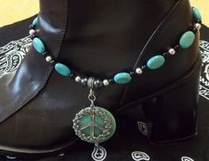 Peace and Turquoise Boot Bling.