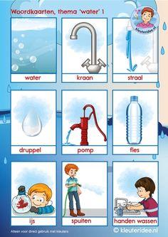 Educational Leadership, Educational Technology, Preschool Lessons, Preschool Activities, Water Theme Preschool, Mobile Learning, Fun Learning, What Is Water, Dutch Language