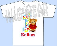 Daniel Tiger First Birthday Shirt Personalized By HugWear Shirts Boy Parties