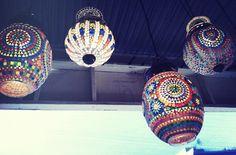 Moroccan Tiled Lanterns Decorating Ideas, Craft Ideas, Lantern Lamp, Hanging Lanterns, Moroccan Style, Dream Garden, Yard Ideas, Accent Pieces, Morocco