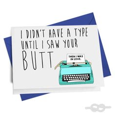 Funny Valentines Card Funny Birthday Card Card for by KnottyCards