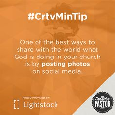 One of the best ways to share with the world what God is doing in your church is by posting photos on social media.