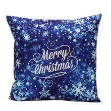 Almofadas decorativas de Natal Cintura Lance Fronha Sofá Capa de Almofada Home Decor capa de almofada U6906(China)