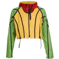 CHRISTOPHER RAEBURN 'Rainbow' cropped parka jacket