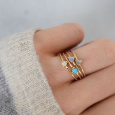 -solid 14kt gold -3mm Freshwater pearl cabochon The most dainty and perfect little stacking ring with just a hint of color. Guaranteed to become your favorite go-to ring :) *If you require a half size
