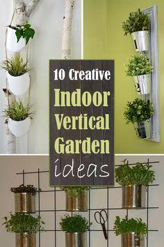 10 Creative Indoor Vertical Garden ideas #Gardening