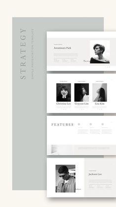 Website Design Inspiration, Graphic Design Inspiration, Presentation Layout, Presentation Templates, Powerpoint Design Templates, Branding Template, Layout Template, Typography Design, Branding Design